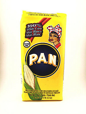 PAN Pre Cooked White Corn Flour Meal Maize 1kg