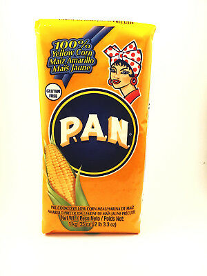 PAN Pre Cooked Yellow Corn Flour Meal Maize 1kg