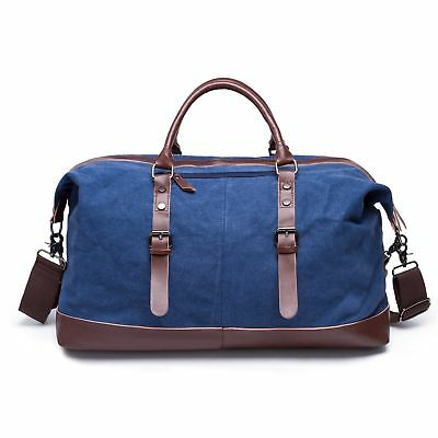 Duffle Bag Retro Vintage Canvas Holdall Gym Hand Luggage Weekend Overnight Trave