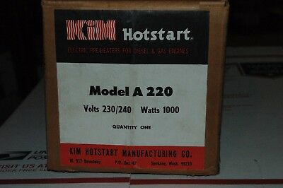 New In Box, Kim Hotstart A-220 Tank Type Engine Pre Heater. 220 V 1000 W