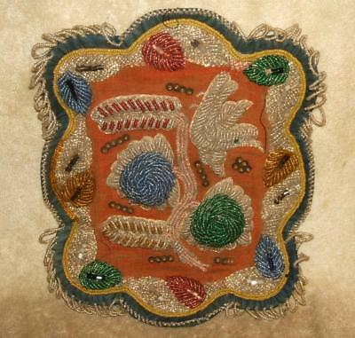 Large Turn of the 20th Century Native American Indian Beadwork - Pillow Cover?