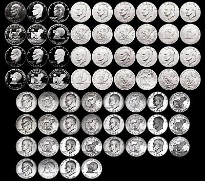1971-1978 Eisenhower Dollar Set in Album - 32 Coins - Complete