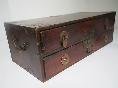 19th c Antique Chinese Wood Chest Drawer x Scale Herbs Medicinal Apothecary Shop