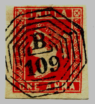 INDIA India 1854 One Anna red used-2