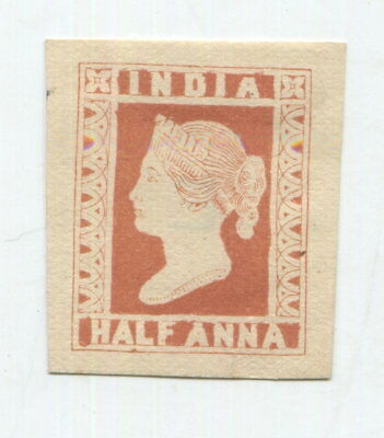 India 1854 One Anna Litho Stamp Victoria Die Proof
