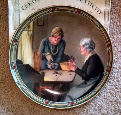 Norman Rockwell Plate ~ AMERICAN DREAM Series ~ A FAMILY'S FULL MEASURE