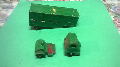 Matchbox Jennings Cattle Truck - very used - damaged - spares?