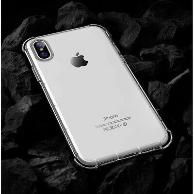 Apple iPhone X Hybrid Shockproof Slim PC Clear TPU Silicone Bumper Cover Case