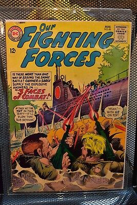 Our Fighting Forces #86 DC Silver Age War Comics 1964 Gunner & Sarge WWII