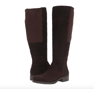 Bandolino Women's Terusa Knee High Leather Boots sizes 9  9.5 Chocolate Suede