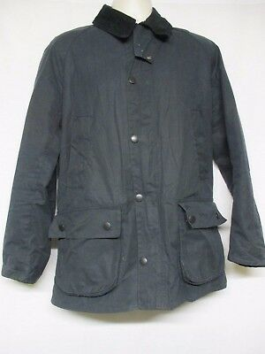 Barbour for J.Crew Sylkoil Jacket  Navy Blue Waxed Cotton Size S    ST1