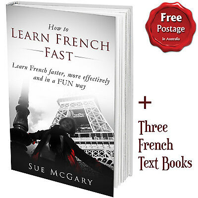 """""""How to Learn French Fast"""" PLUS French Text eBooks PLUS Online French course"""