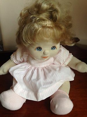 My Child 1988 Doll Ash Blonde Top Knot Blue Eyes