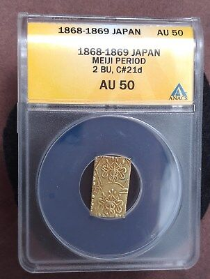 1868 to 1869 Japan gold 2 BU ANACS graded AU50
