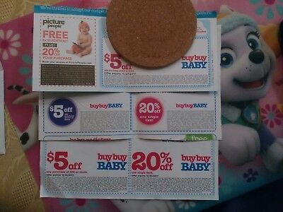 One 20% Off BuyBuy BABY and One $5 off $15 coupons Exp 12-25