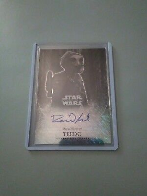 2016 Star Wars Chrome Chris Acord Voice Of Teedo Shimmer Refractor Auto #9/10