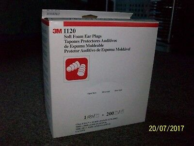 3M 1120 Soft Foam  Ear Plug - Box of 200