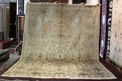 Super Fine Wool&silk Persian Rug Tabriz Carpets 350X252