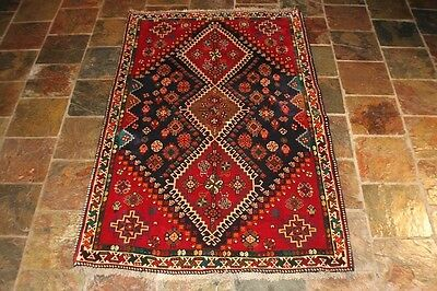 GREAT COLOR COMBINATION, 191X117 SHIRAZ TRIBAL PERSIAN CARPET RUG /80's
