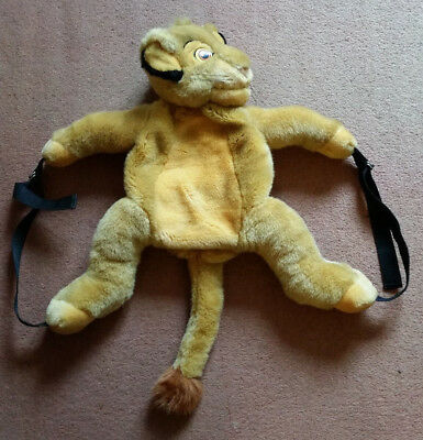 Disneyland Paris Simba from The Lion King Plush Backpack - Full character +Logo