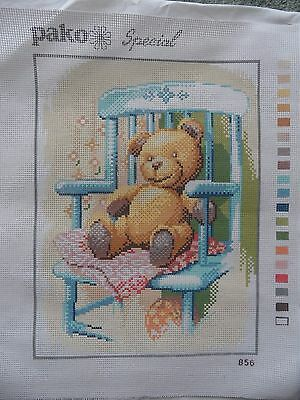 Tapestry Canvas printed - Teddy Bear in Chair Pako special No. 856