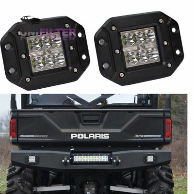 Pair Rear Black LED Head Light Fog Pod Polaris Sportsman 1000 850 570 RZR 800