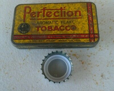 vintage tobacco tin  1oz  Perfection melbourne  very rare size