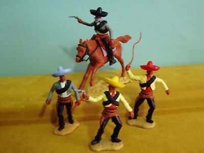 Timpo Wild West 3 Standing Mexicans & 1 Mounted Mexican 'bandit' #2