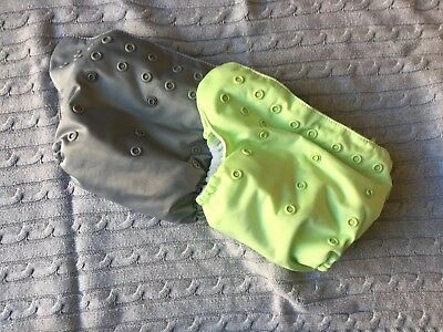 Bumgenius Freetime Cloth Diapers (grey and green)