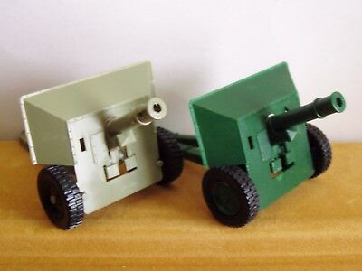 TIMPO MODERN ARMY ARTILLERY GUNS x 2 DIFFERENT COLOURS