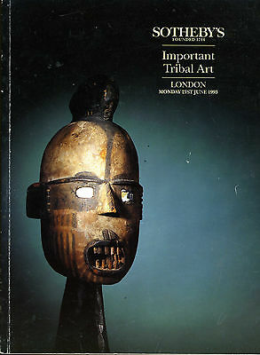 Sotheby's Important Tribal Art auction catalogue 1993 141 pages 351 lots