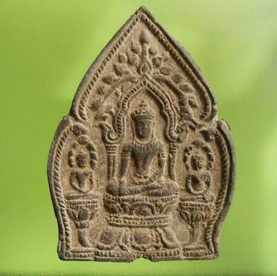 ANTIQUE THAI BUDDHA AMULET PHRA LOPBURI WITH CERTIFICATE 1st AWARD