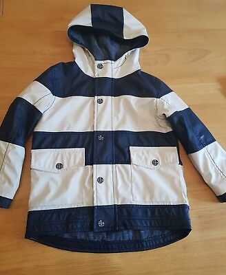 Boys Next Striped Coat Jacket age 3-4  Excellent condition