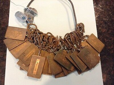 Vintage Agriculture Advertising Key Chain Lot