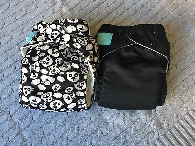Charlie Banana OS Cloth Diapers (black and bears)
