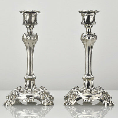 Antique French Art Nouveau Candlesticks Candle Holders Orfevrerie Dilecta