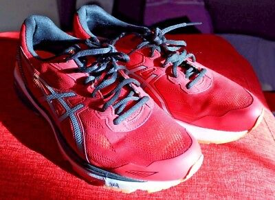 ASICS Red Trainers - Running Shoes - Red / Black - Mens UK10.5