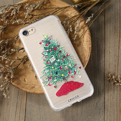 BOX 3D Relief Phone Case For iPhone 7 6 6s Plus 5s 5 SE Cute Cartoon Merry Ch..