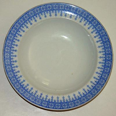 "1895 Royal Worcester Shallow Bowl, 2 of Them Together, 10"", Sky Blue and White"