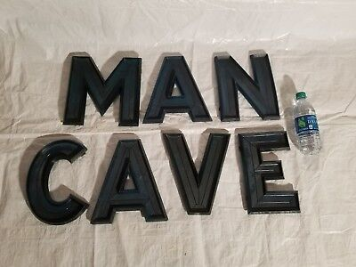 """Antique 10"""" Green Marquee Letters"""