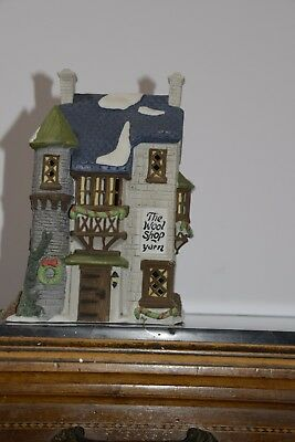 """Dept 56 Dickens Heritage Village Collection """"The Wool Shop"""" #59242 - RETIRED"""