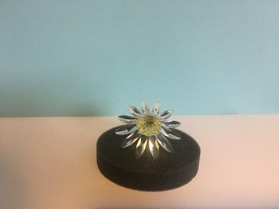 Swarovski SCS Crystal Flower Marguerite Daisy Yellow