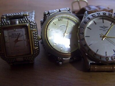 job lot of 3 mens fahion quartz Hommage watches in working order