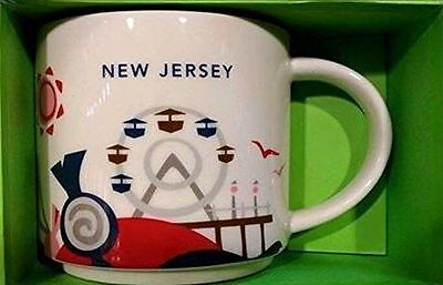 STARBUCKS YOU ARE HERE NEW JERSEY NEw w box,14 oz mug