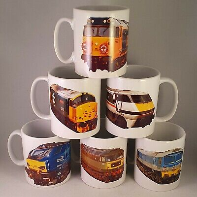 Train Mugs / Railway Cups | Class 59, 60, 68 & Virgin Pendolino | Great Gift