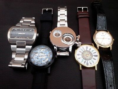 Job lot of 5 men's watches. Ready to wear. Clean and tidy