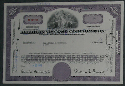 American Viscose Corporation 1963 50 Shares .