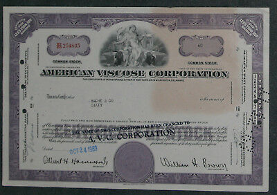 American Viscose Corporation 1963 60 Shares .