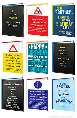 Brother Bro Birthday Greeting Cards Funny Comedy Humour Cheeky Rude Novelty Joke