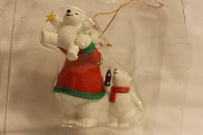 Coca-Cola Polar Bear Collection Ornament 1996